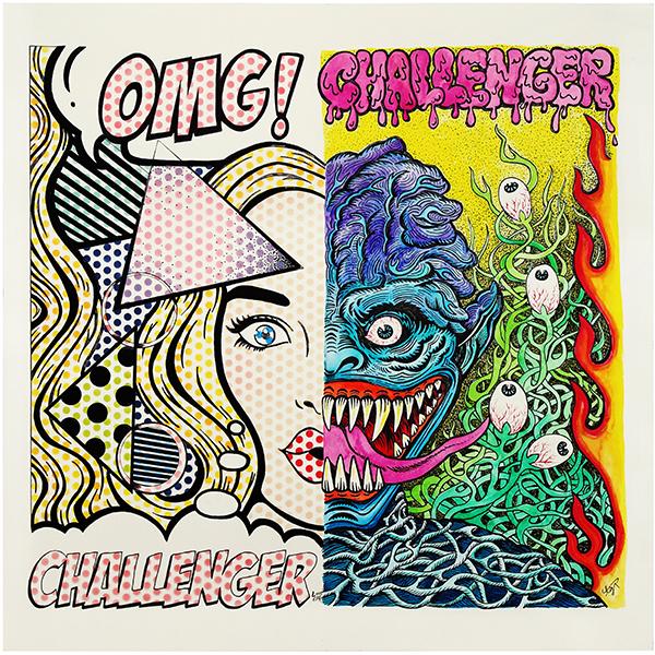Challenger x Love ear art II